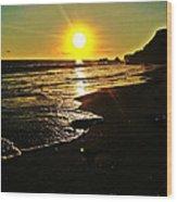 Malibu Sunset Wood Print
