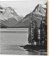 Maligne Lake Wood Print