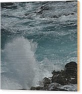Maliko Point Maui Hawaii Wood Print