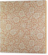 Mallow Wallpaper Design Wood Print