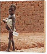 Malnourished Child Wood Print