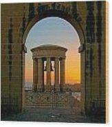 Maltese Sunrise Wood Print