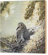 Mama Dove Wood Print