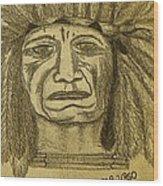 Man Of Wisdom - D Wood Print
