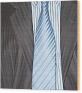 Man Wearing A Suit And Tie Wood Print
