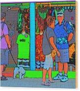 Man With Dog Wood Print