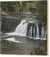 Manabezho Falls 2 Wood Print