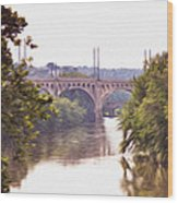 Manayunk Bridge Along The Schuylkill River Wood Print