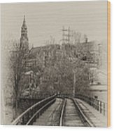 Manayunk From The Tressel Tracks Wood Print