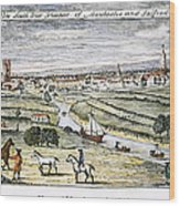 Manchester, England, 1740 Wood Print