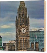 Manchester Town Hall Wood Print