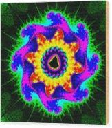 Mandala Textured - Fractal Wood Print