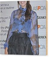 Mandy Moore In Attendance For Aspca Wood Print by Everett