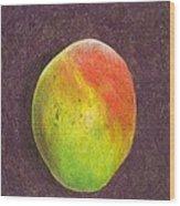 Mango On Plum Wood Print