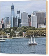 Manhattan Backdrop Wood Print