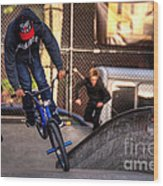 Manhattan Bmx Wood Print