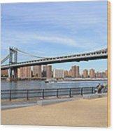 Manhattan Bridge1 Wood Print