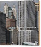 Manhattan Buildings Wood Print