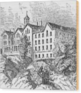 Manhattan College, 1868 Wood Print