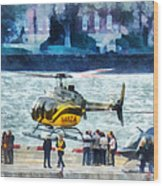 Manhattan Heliport Wood Print