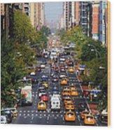 Manhattan Street Wood Print