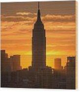Manhattan Sunrise II Wood Print