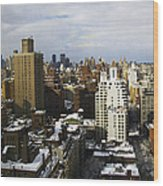 Manhattan View On A Winter Day Wood Print