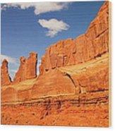 Manhatten In Utah Wood Print
