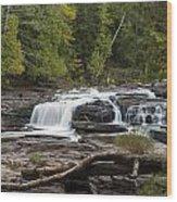 Manido Falls 1 Wood Print