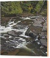 Manido Falls 6 Wood Print