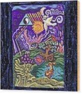 Manifest Destiny Wood Print by Genevieve Esson