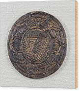 Manipuraka Navel Chakra Plate Wood Print