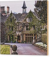 Manor House At Castle Combe  Wood Print