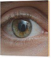Mans Eye Wood Print