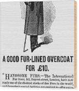 Mans Overcoat, 1888 Wood Print