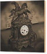 Mantel Clock Wood Print