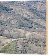 Many Hills Wood Print