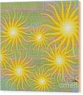 Many Suns Wood Print