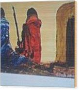 Manyatta Wood Print