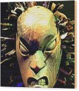 Maori Mask Two Wood Print