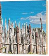 Maori Village Wood Print
