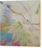 Map Abstract 2 Wood Print