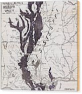 Map: Mississippi River, 1874 Wood Print