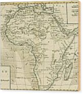 Map Of Africa Wood Print