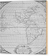 Map Of The New World 1587 Wood Print