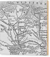 Map: Suez Canal, 1869 Wood Print