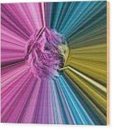 marabou Colour Splash Wood Print