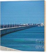 Marathon And The 7mile Bridge In The Florida Keys Wood Print