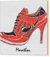 Marathon Wood Print