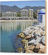 Marbella Bay Wood Print